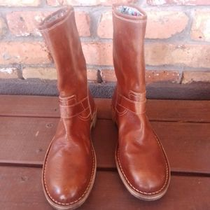 Le Crown Brown Leather Boots
